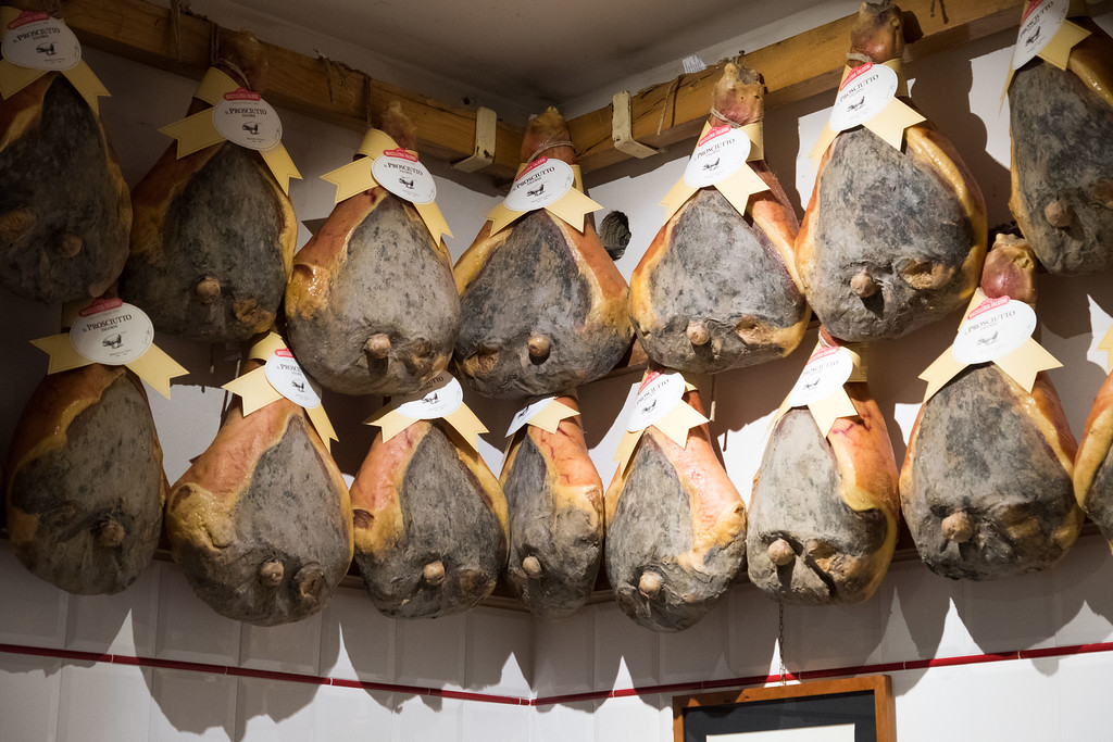 OMG. Prosciutto at Macelleria Falorini in Greve
