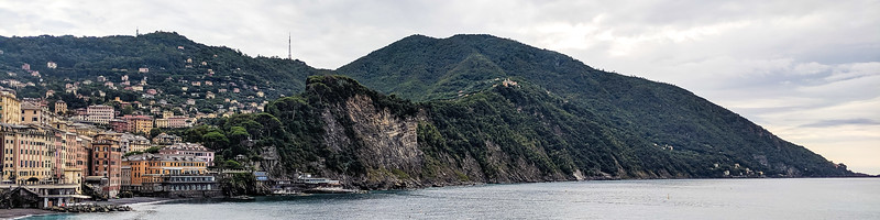 View of Camogli coastline