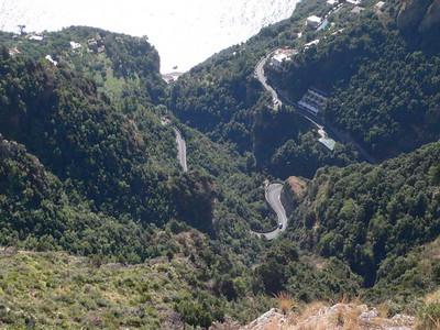 The roads wind and wind on the Amalfi Coast