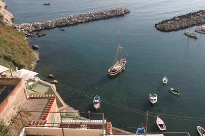 Pleasure Boat harbor on Procida