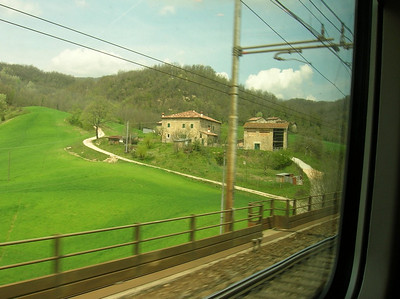 View from the train window.