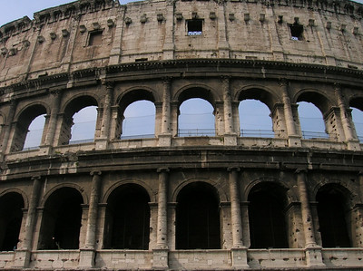 The Colloseum. It was so crowded we decided not to wait in line to see the inside.