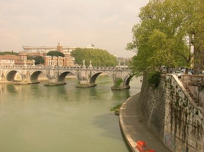 Along the Tiber.