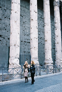 In front of the Pantheon.