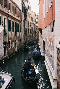 Crowded canal.