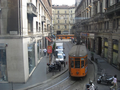 View from our hotel room in Milan, Italy