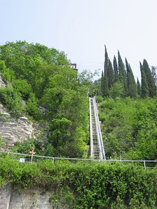 To get to the hotel you have to ride up a Funicular