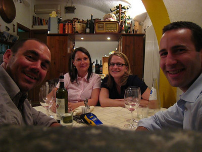Dinner with our friends Tim and Inka visiting from Germany