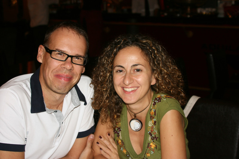 Tiziana and her boyfriend Marco.  We enjoyed dinner with them after they, very graciously, toured us around Verona.