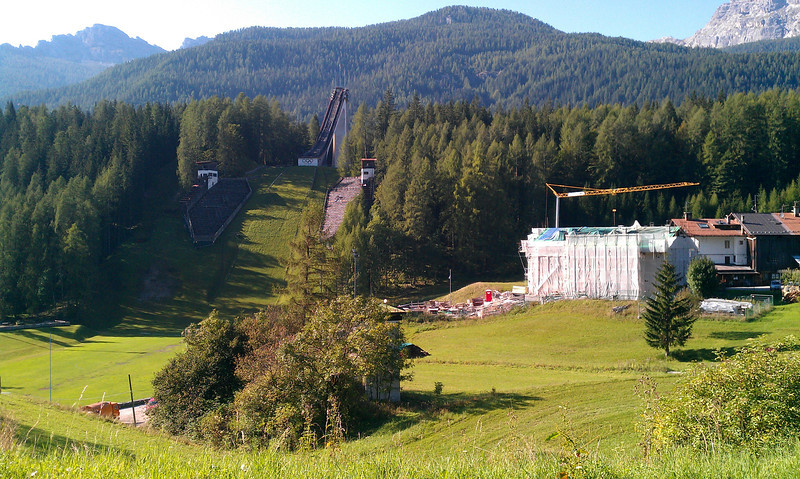 We passed a ski jump from the 1956 olympics.