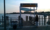 As those who have been to Venice know, the only way to get around other than walking is boating.  Here is the water taxi station at the airport to get to the island.<br /> <br /> LIke most of the pictures in this collection, this picture was taken with my phone.