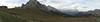A panorama at Passo Giau.