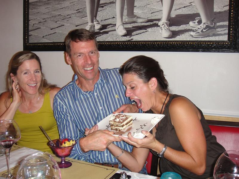 Chris went for the Tiramisu...