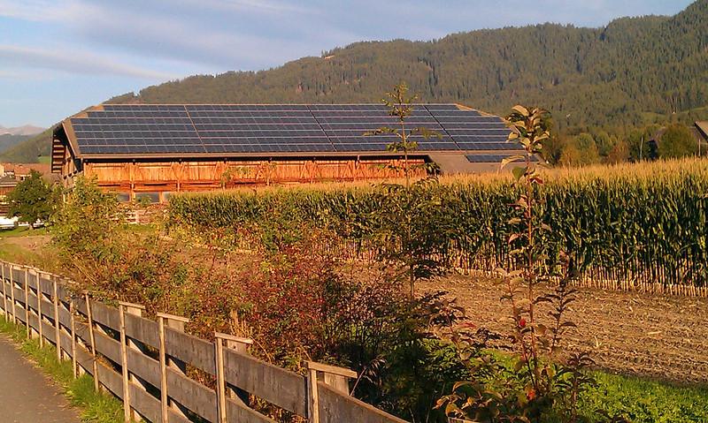 I was surprised and impressed by the solar panels we saw everywhere.  Here is a very large array on a barn.