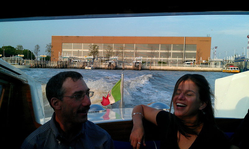 Steve and Linda enjoying our water taxi.  It was a beautiful afternoon and it was great to be out of the plane and outdoors.