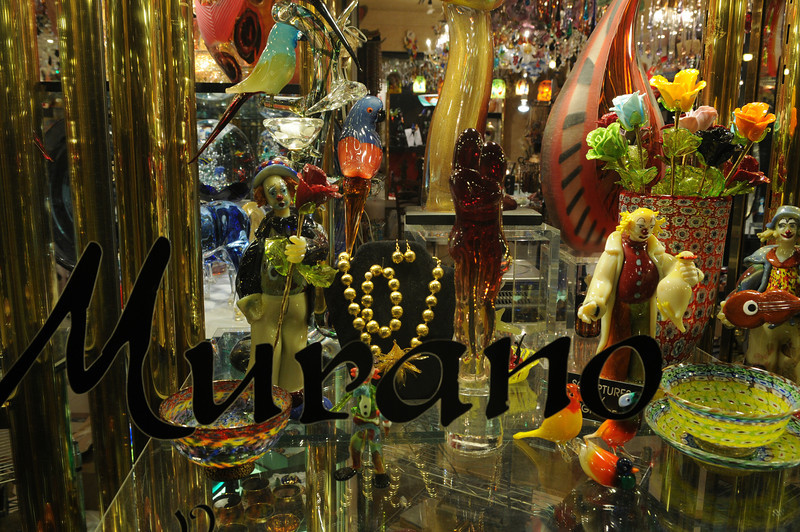 Shops sporting Murano glass caught our eye.