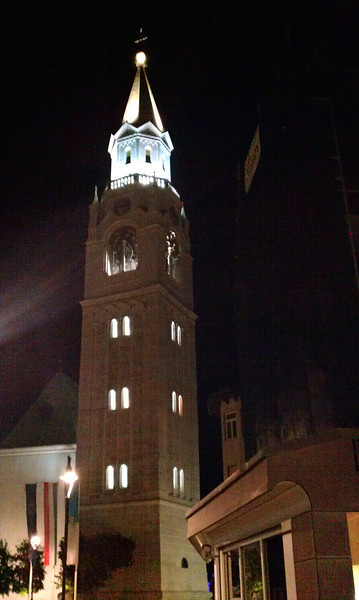 The clock tower next to our hotel (taken with my phone)