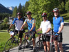The four of us extended the first day's warm up ride.  Here we are before we embark.