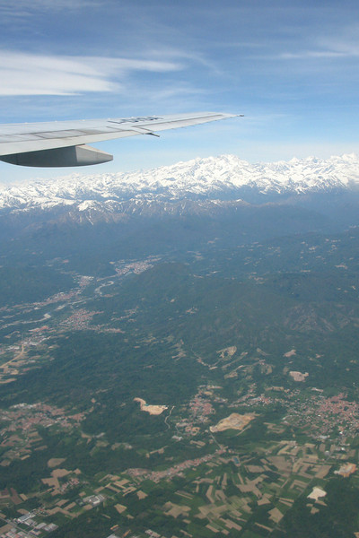 Flying home, the Alps again