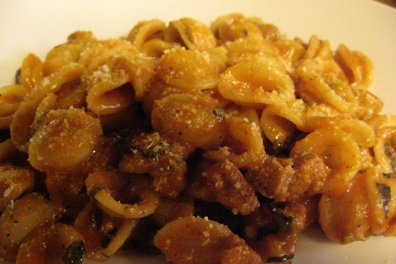 Orecchiette with sausage