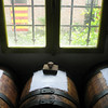 The wooden barrels in which the vinegar is aged for years. Different types of wood are used for flavoring, such as ash, juniper, oak, and chestnut. The vinegar you buy at your local supermarket is probably aged in stainless steel for a few months.