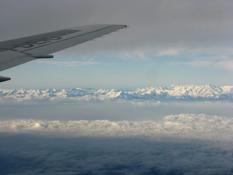 As we approached Milan, a glimpse of the Alps