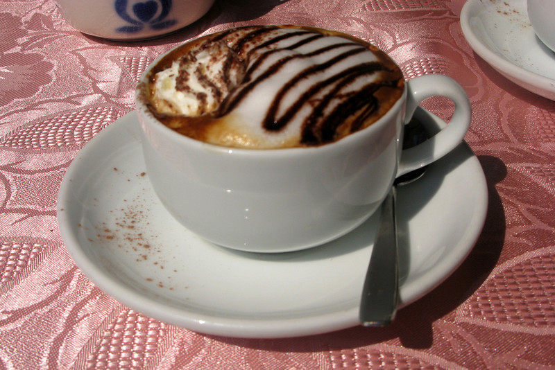 Probably the best cappuccino of the trip, for obvious reasons