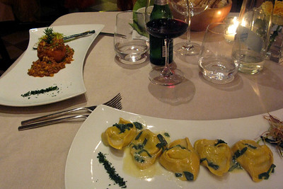 First night tortelloni-butter-sage deliciousness