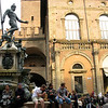 We arrived to Bologna on Labor Day, a major holiday in Italy, so the main piazzas, including Neptune's, were packed.