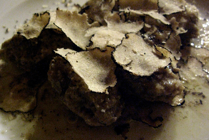 Gnocchi made with bread and black truffles...amazing