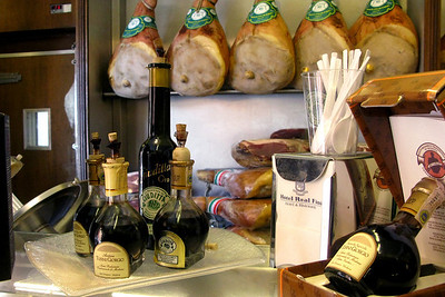 """Modena salumeria balsamic vinegar tasting, where we had our first taste of the thick 25-year, 80-euro """"black gold."""""""