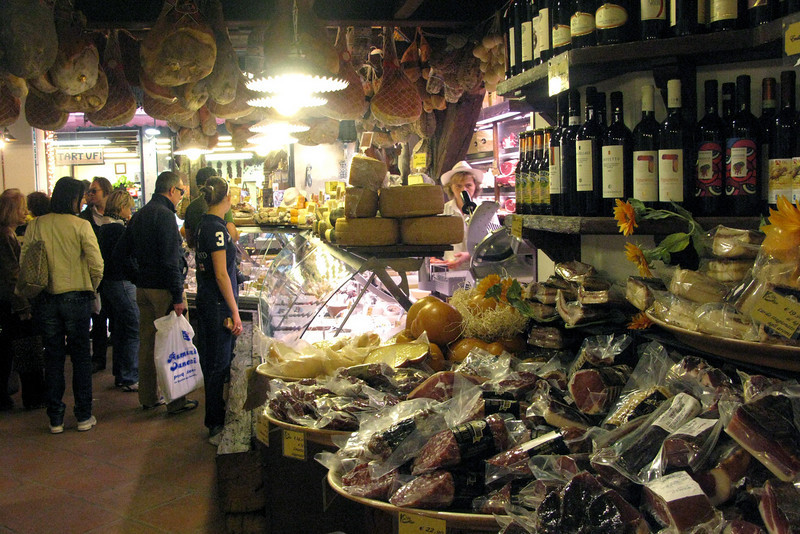 Inside a popular salumeria