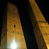 The ancient towers at night