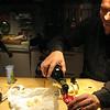 Gian Luigi, her husband, pouring us some local Lambrusco