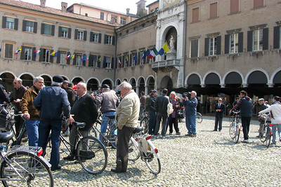 Labor Day (May 1) draws out the big crowds in Modena...of a certain demographic.