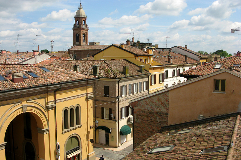 View of Mirandola out her window