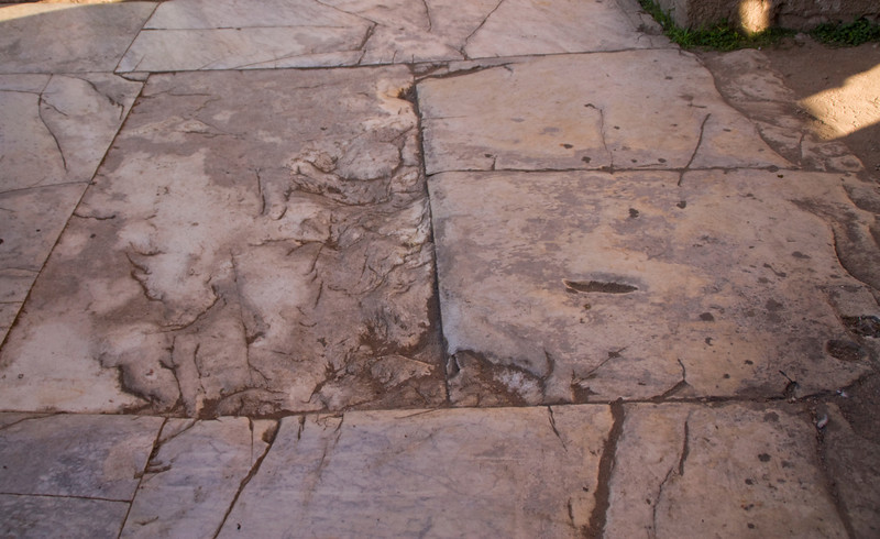 The original marble floor from 2000+ years ago.