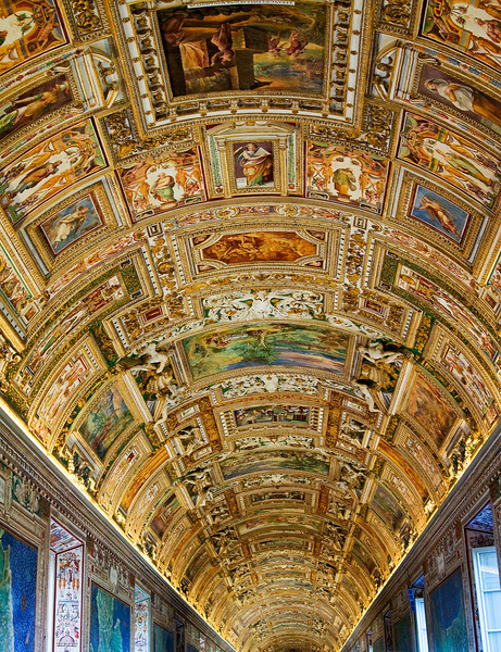 Part of the ceiling at the Sistine Chapel.