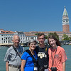 Jim, Beth, Ross, and Lydia in Venice across the Grand Canal from St. Marks Square.<br /> July 20, 2016