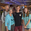 At Greensboro, N.C. airport, Jim, Beth, Ross, and Lydia Thomas are eager for our trip to Italy.<br /> July 8, 2016