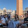 Venice:  Beth, Lydia, and Ross enjoying refreshments and ambiance on Saint Mark's Square.<br /> (photo taken July 19, 2016)