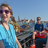 Lydia and Ross aboard our gondola in Venice.  July 18, 2016.