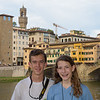 Florence:  Ross and Lydia at the Ponte Vecchio.<br /> (photo taken July 13, 2016)