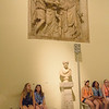 Our group learning about the history told by the sculpted friese in the Capitoline Museum.