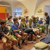 Florence: Our group learning about the materials and techniques of fresco painting at the Musei dei Ragazzi in the Palazzo Vecchio.<br /> July 15, 2016