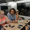 Cannon, Becky, Jenna, Isabel, and Eleanora enjoyed games on the train also.