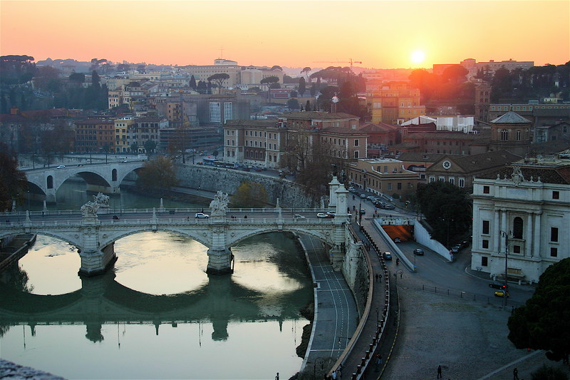 Rome Sunset Skyline