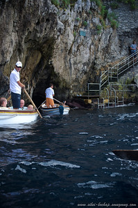 entrance to the blue grotto: http://en.wikipedia.org/wiki/Blue_Grotto_(Capri)   lousy italian racist boatmen btw