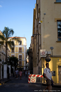 sorrento streets during sunset