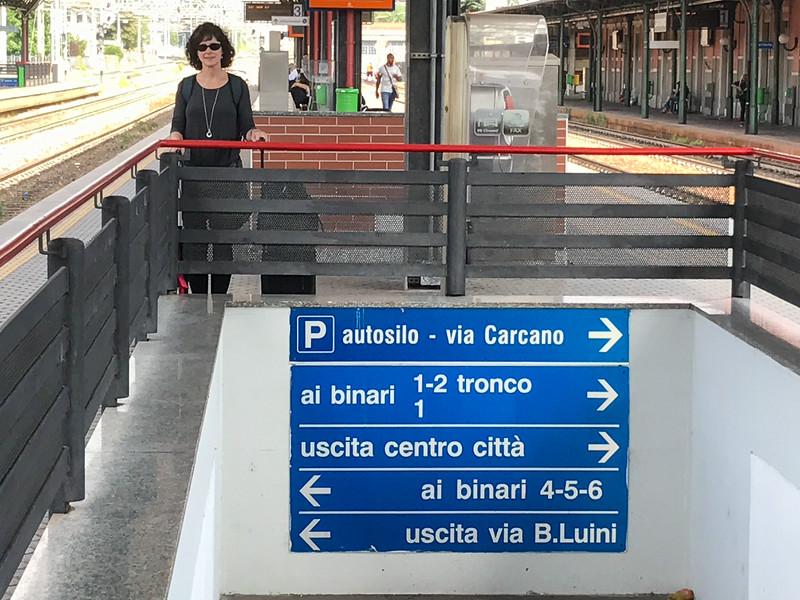 At the train station Sarrono, Italy.